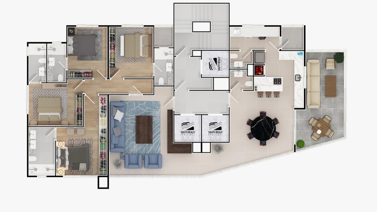 PLANTA 01 POR ANDAR -193,42 m²