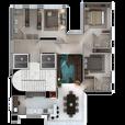 Planta 1 Apartamento por andar