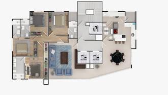PLANTA 01 POR ANDAR -172,02 m²