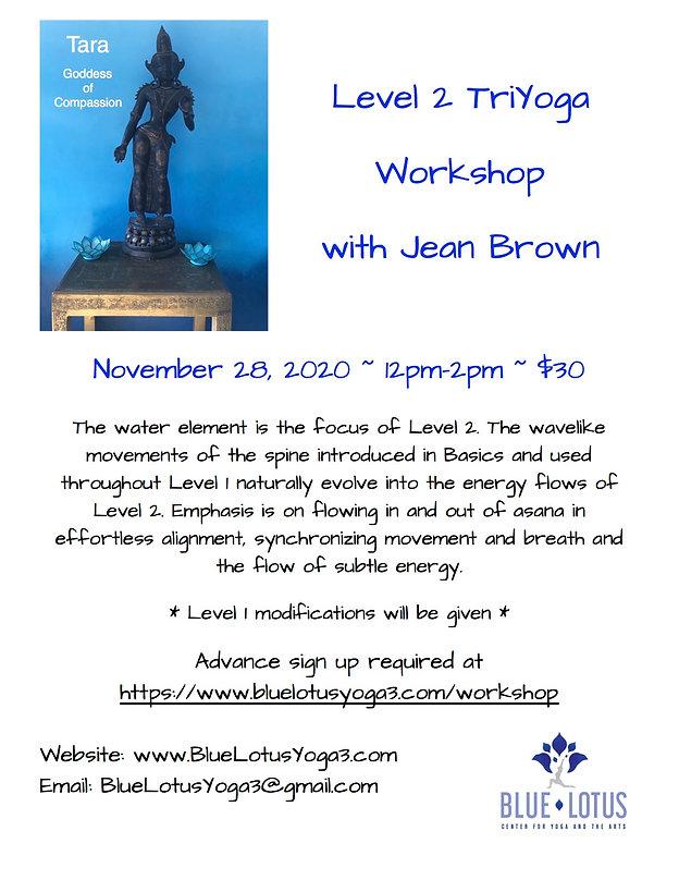 Blue Lotus Level 2 Workshop Flyer Novemb
