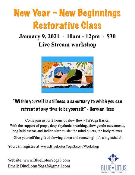 Restorative Yoga Workshop Flyer 01092021