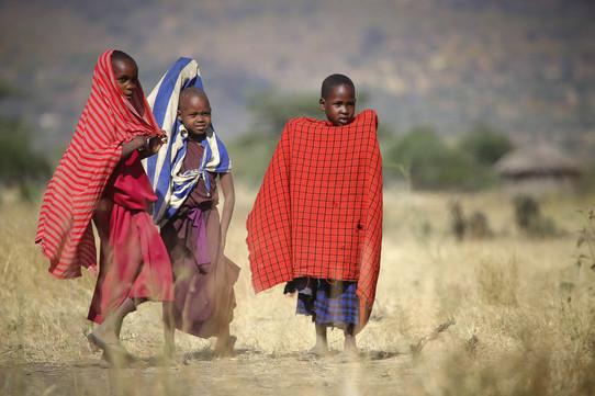 Maasai children - Kilimanjaro