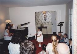 Erika's first recital