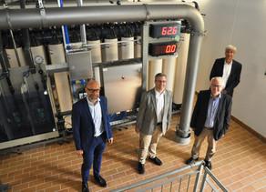 Neue hochmodernen Ultrafiltrationsanlage in der Wasseranlage Hohemark