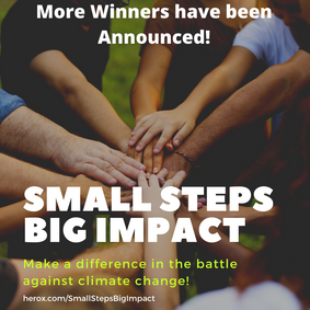 Second Stage Winners in the        Small Steps, BIG IMPACT challenge