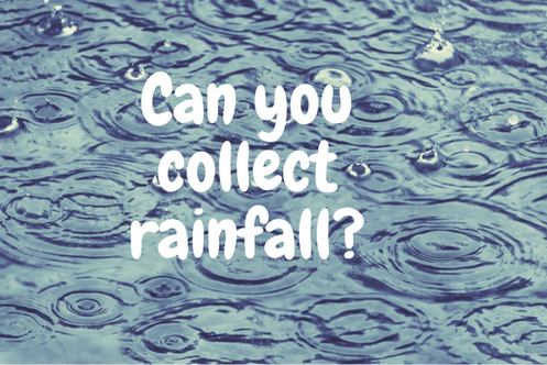 Can you collect rainfall?