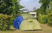 Kameren met een tent
