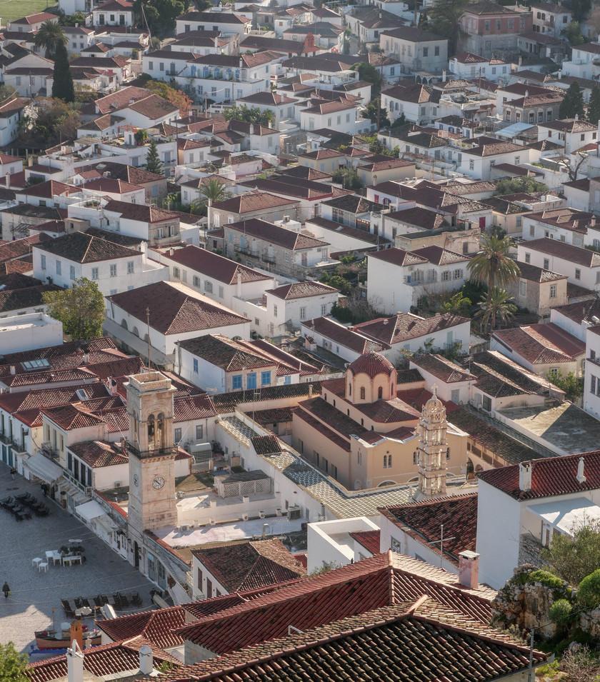 Les toits d'Ydra