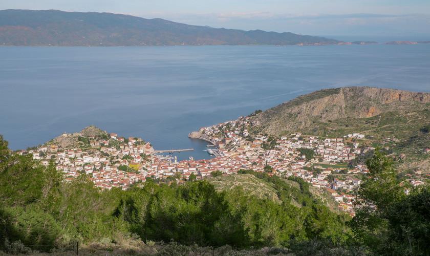 Ydra depuis le monastère de Moni Profiti Ilia