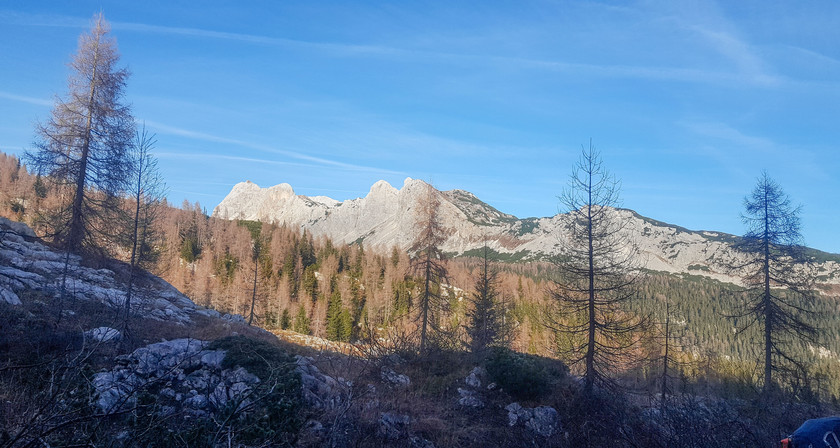 Vue sur le massif du Triglav