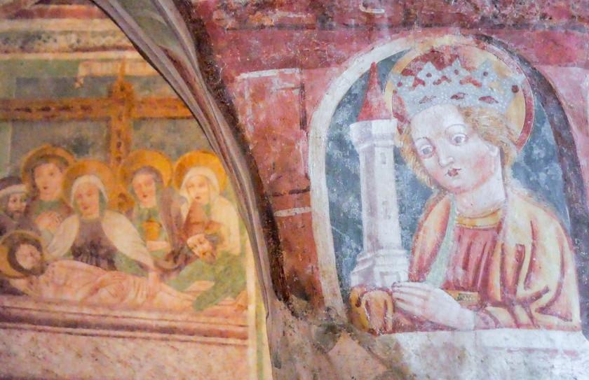 Détail des fresques de Hrastovlje
