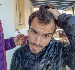 On en profite pour une petite coupe de cheveu
