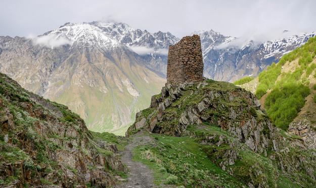 La tour de Garde de Gergeti