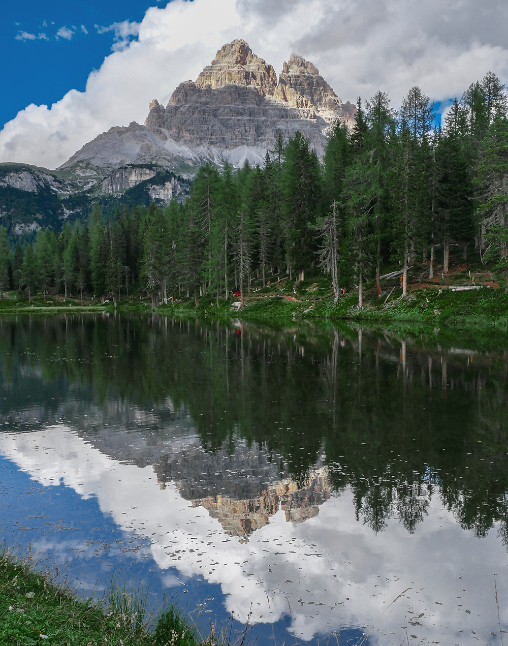 Le reflet des Tre Cime sur le Lago Antorno
