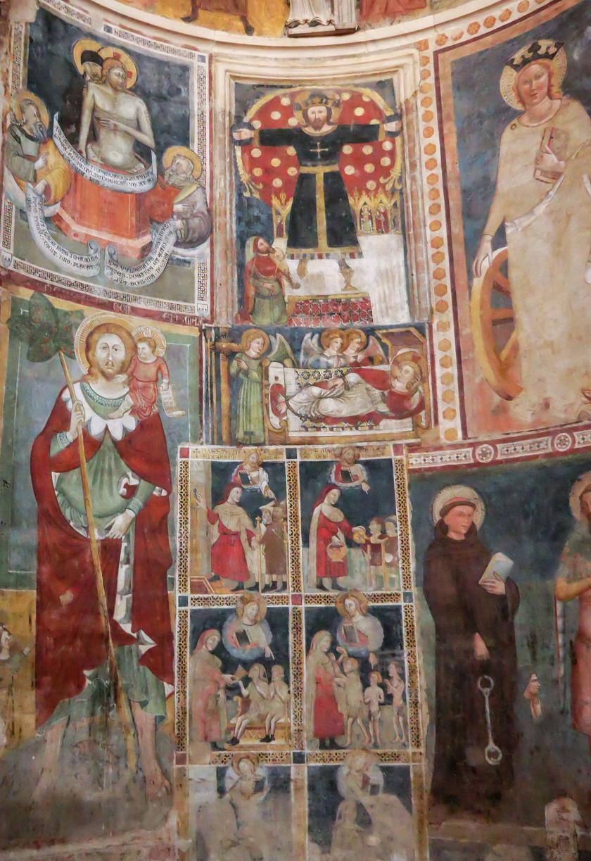 Les fresques du Bapstisère