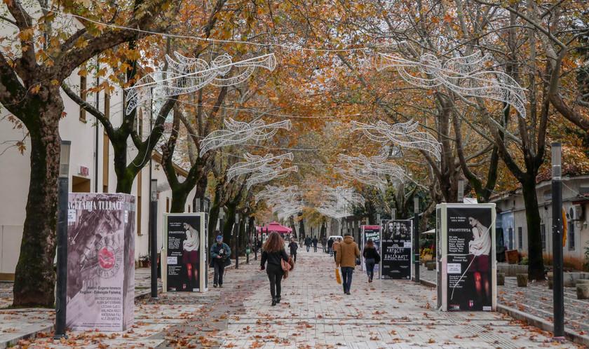 La rue piétonne de Shëtitorja Murat Toptani