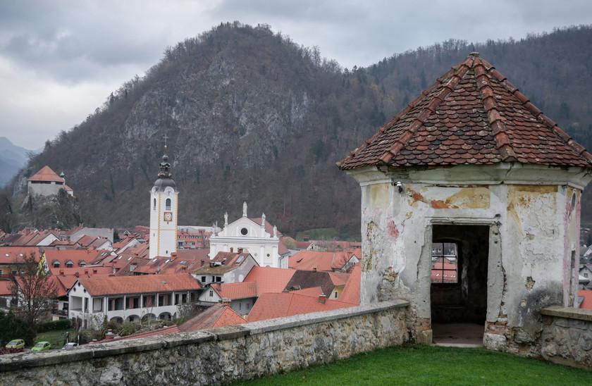 Panorama depuis les château de Kamnik