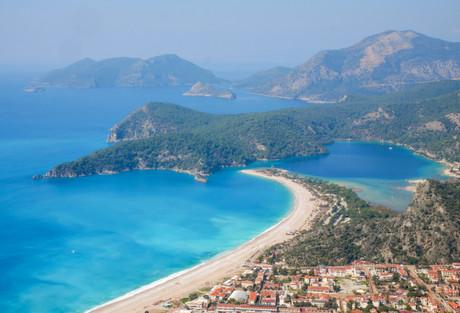 La baie d'Ölüdeniz depuis la Voie Lycienne