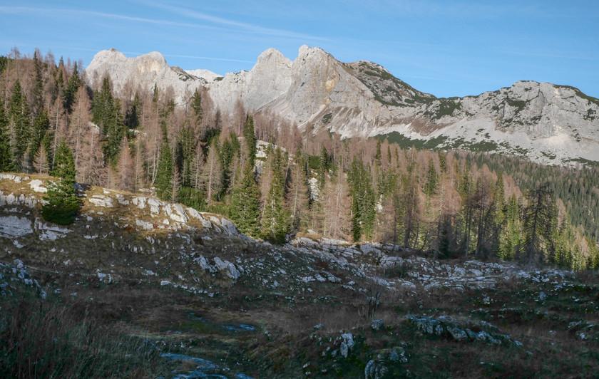 Vue sur le massif de Triglav