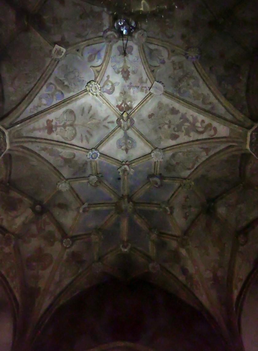 Le plafond de l'église de Radovljica
