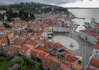 Vue depuis le campanile de Piran