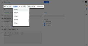 Step four: Adding appointment dates in Google Calendar.