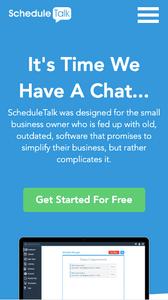 Image showing ScheduleTalk's mobile website.