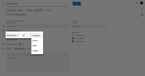 Step seven: Setting appointment reminders in Google Calendar.