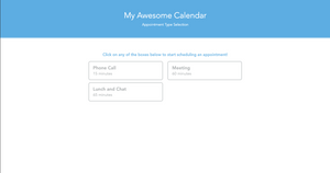 Step two: Introducing ScheduleTalk appointment types.