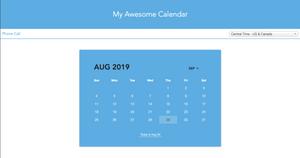 Step three: Viewing your new online ScheduleTalk calendar.