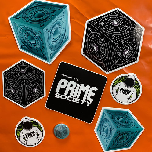 Prime Society - Stickers and Badges Pack