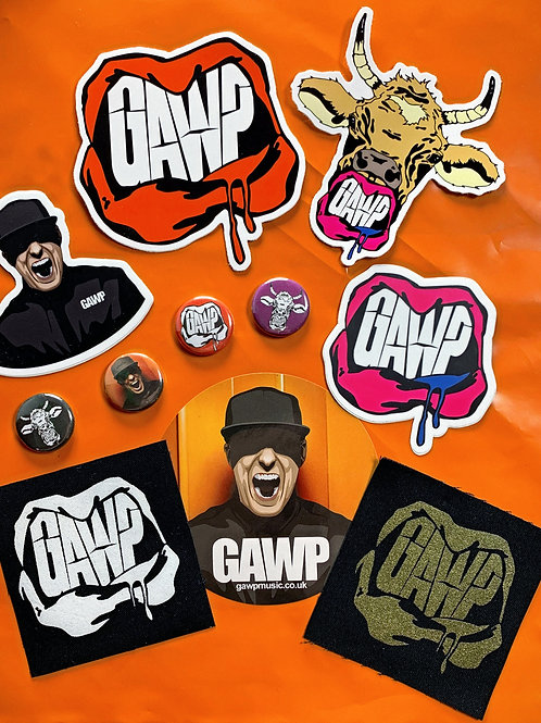 GAWP - Sticker, Badges and Patch Pack