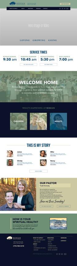 Berean Baptist Church-webdesign