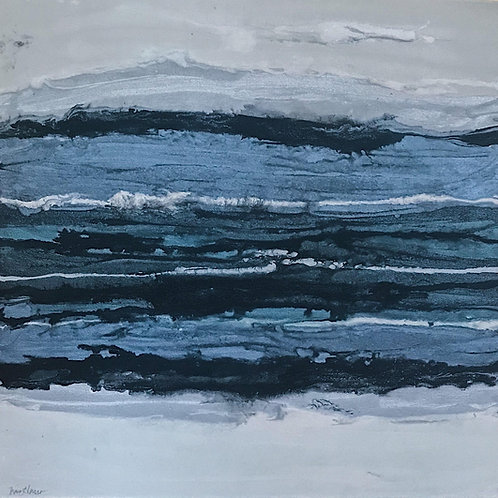 "Blues and Grays for Days 2 (24 x 24"")"