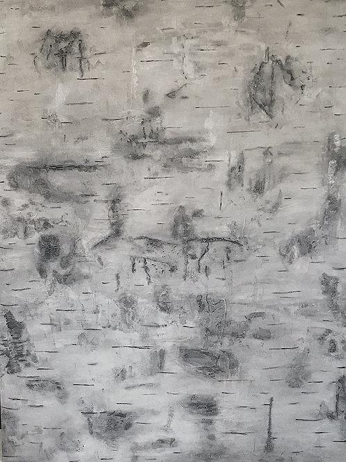 Birch Bark Textural Art