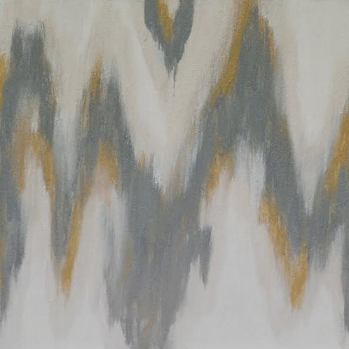 Silver and Gold Ikat