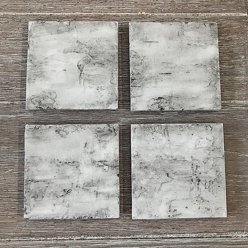 Birch Bark Resin Coasters (set of 4)