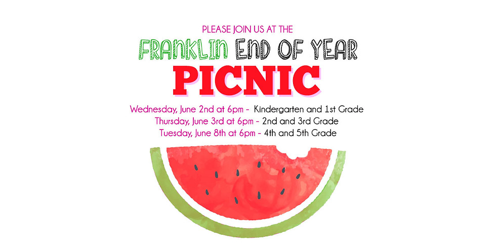 4th & 5th Grade - End of Year Picnic!