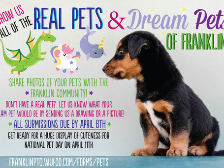 Deadline is TODAY for the Real Pets & Dream Pets of Franklin photos!