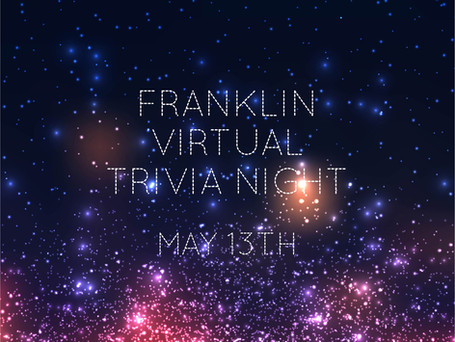 Virtual Trivia Night!! Thursday, May 13th from 8-10pm!