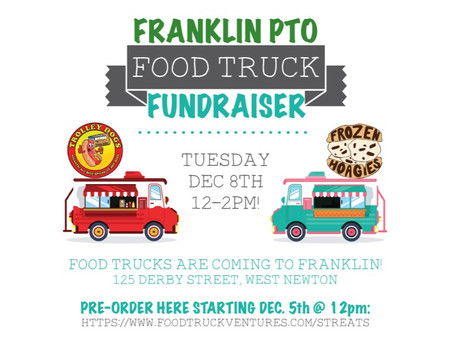 Food Trucks Coming to Franklin on Tuesday, December 8th!!