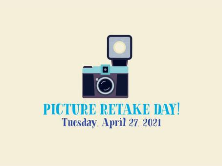 Franklin Picture Retake Day is TOMORROW, April 27th!