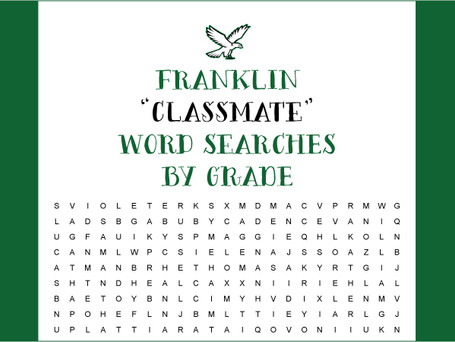 "Franklin ""Classmate"" Word Searches by Grade!"