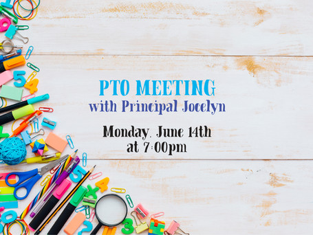 Zoom Recording of Last Night's PTO Meeting with Principal Jocelyn