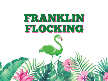 Franklin Flocking Fundraiser! The flamingos are coming back April 26th!
