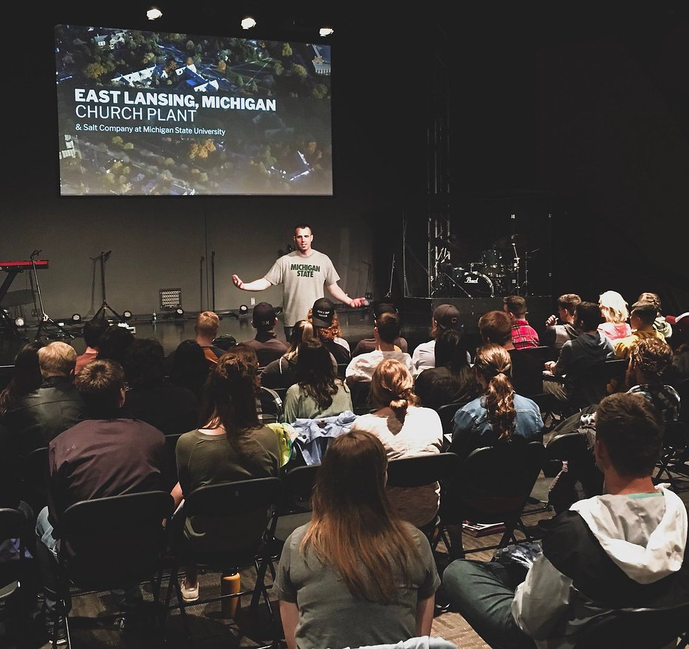 Within 5 days of Austin & Lesley Wadlow's decision to leave a major collegiate church plant in Iowa and come to Michigan State University in 2019 to plant a new church, over 60 Iowa university students consider the possibility of coming to Michigan on a launch team.