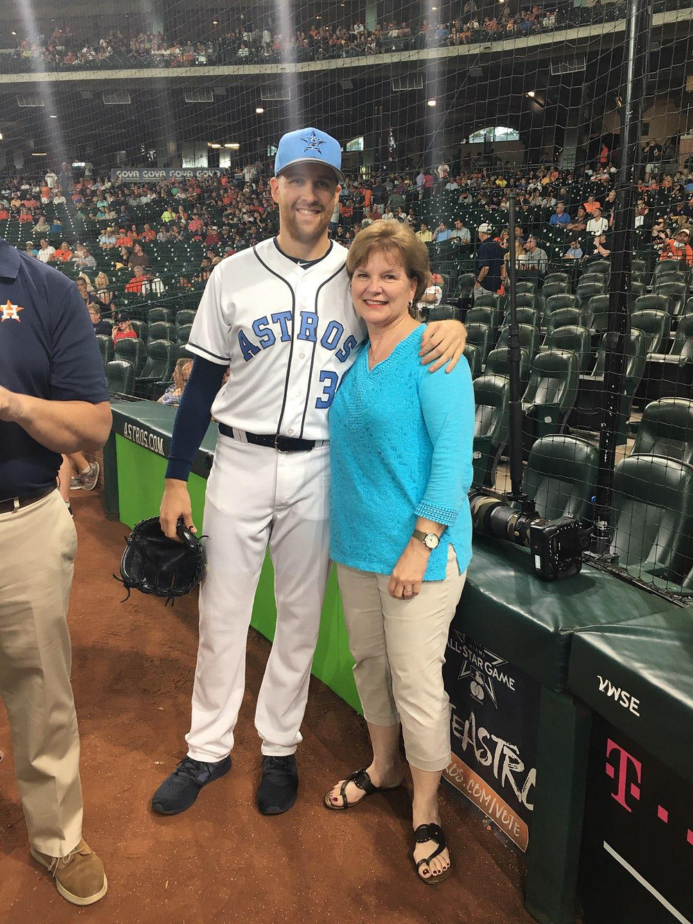 For Houston Astros pitcher Collin McHugh, his mother Teresa has been a regular throughout his rise in baseball, from the little leagues, to high school and college ball, to five seasons in the minor leagues before catching on in the Major Leagues. (Photo courtesy of Scott and Teresa McHugh)
