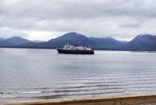 The ferry LeConte, which services Tenakee Springs from Juneau, is the means by which Todd and Jodie Buck often make their way to the Alaskan church they serve bivocationally. This photo was taken by Todd Buck from the deck of his cabin in Tenakee Springs. (Photo submitted)