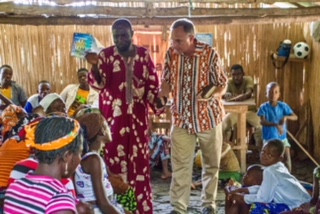 PREACH: IMB missionary Jeff Singerman preaches in a Baptist church in Benin. (IMB Photo)
