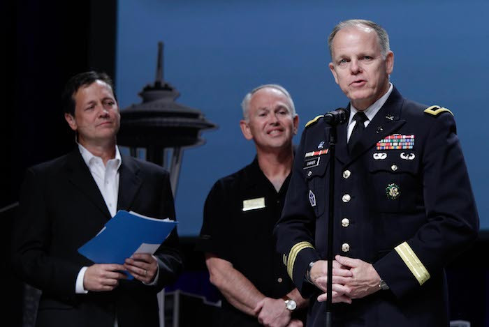 Chaplain Carver is recognized for his service at a retirement ceremony during the SBC gathering in Phoenix, AZ. (Photo courtesy SBC.net)